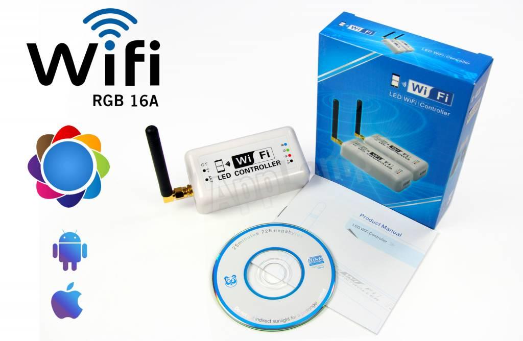 LED Magical Wi-Fi RGB controller met persoonlijke kleurschema's! Bediening met App op smartphone of