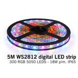 Dream Color WS-2812 RGB Digital LED strip 5 meter, 60 leds p.m. type 5050 5V IP65