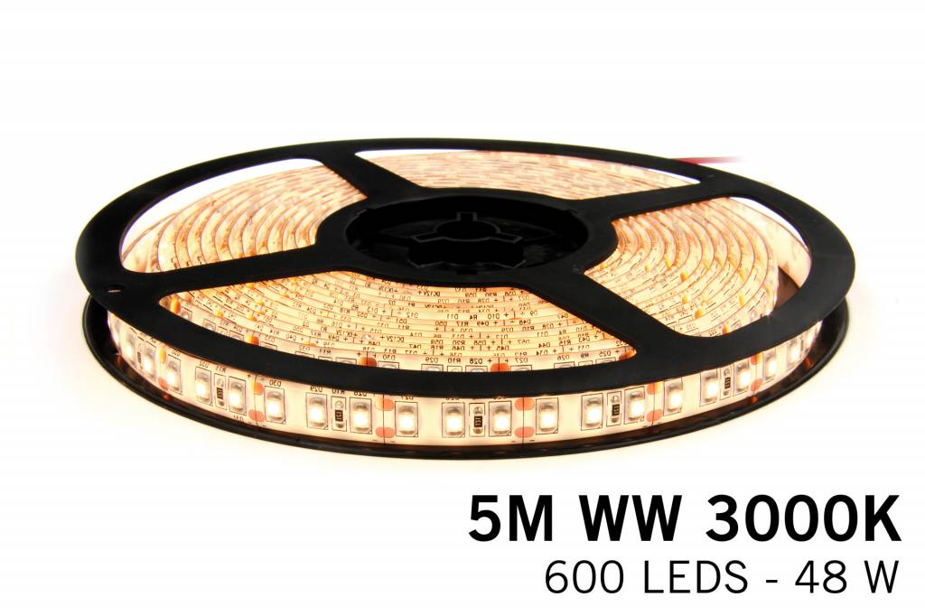 Mi·Light Warm Wit Led Strip uitbreidingsset met controller en adapter | 120 Leds pm Type 3528 12V 9,6W pm