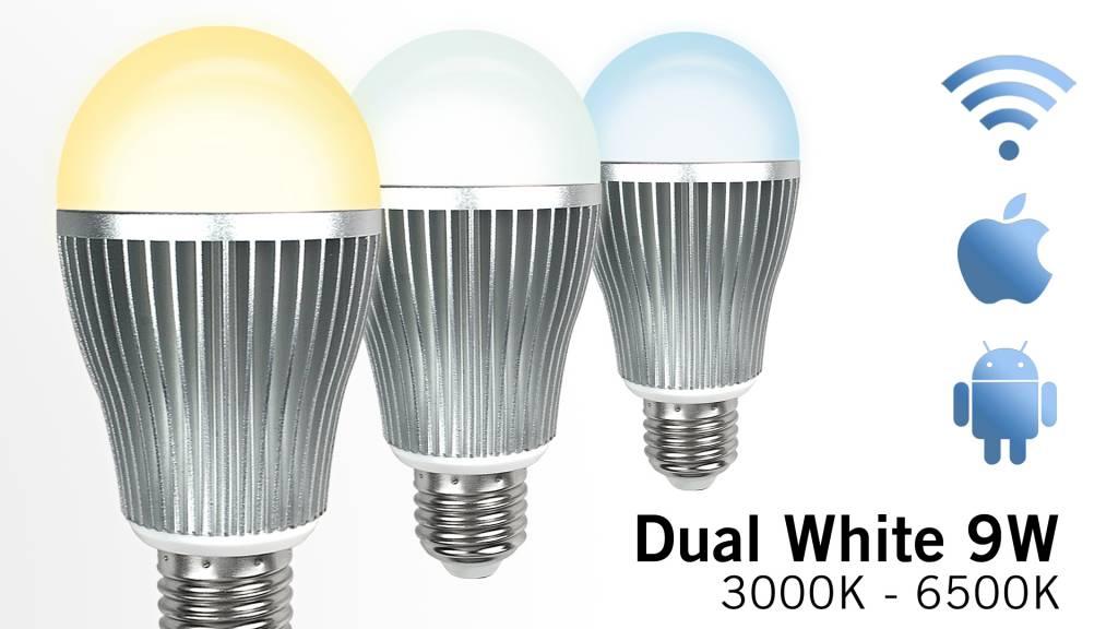 Mi·Light Wifi LED Lamp Mi-Light 9W Dual White E27. Op afstand bedienbaar