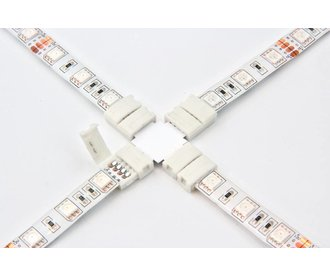 X-Connector voor 10mm RGB Led Strips | Soldeervrij