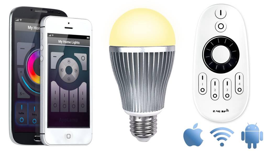 Mi·Light Mi-light 9W Dual White E27 Wifi LED Lamp Starterskit