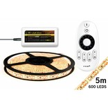 Dimbare LED strip set Warm Wit 5 m. 600 leds 48W RF remote