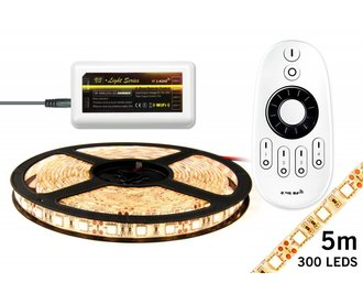 Mi·Light Warm Wit Led Strip set met remote| 60 Leds pm Type 5050 12V 14,4W pm
