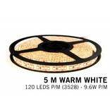 Warm Wit Losse Led Strip | 5m 120 Leds pm Type 3528 12V 9,6W pm