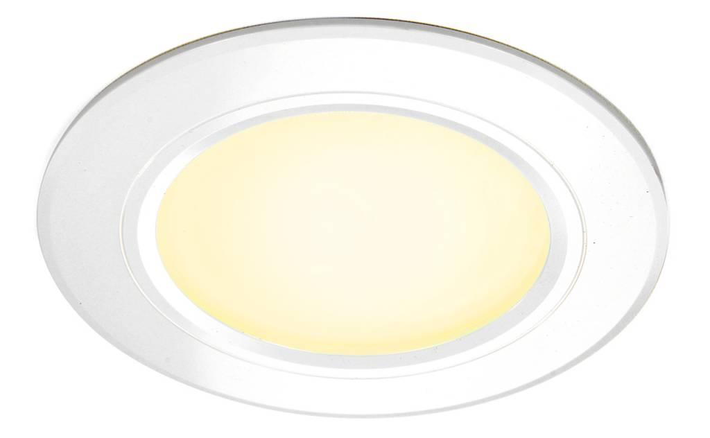 LED Inbouwspot met Afstandsbediening Mi-Light 6W RGBWW Kleur + Dual White 220V. Satijn Wit. Rond ⌀120mm
