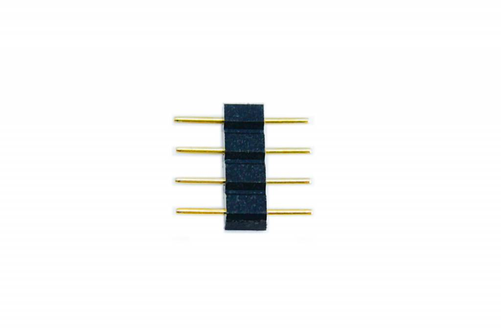 Connector Male Pin-Pin 4 Pin voor 10mm RGB Led Strips