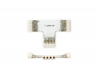T-Connector Female 4 Pin voor 10mm RGB Led Strips