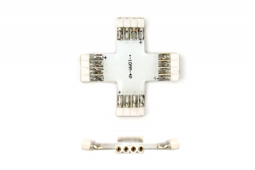 Female X-Connector 4 Pin voor 10mm RGB Led Strips