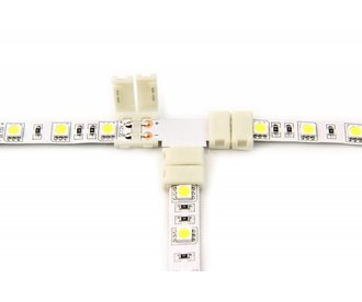 Witte LED strip T-connector, soldeervrij