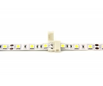 Connector 5050 en 3528 Witte Led Strips | Soldeervrij