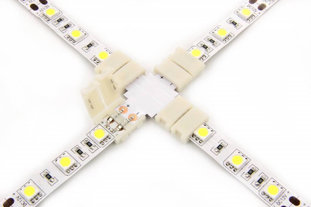 X-Connector voor | Witte Led Strips | Soldeervrij