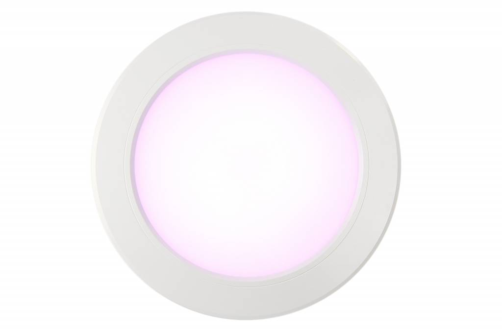 LED Inbouwspot met Afstandsbediening Mi-Light 12W RGBWW Kleur + Dual White 220V. Satijn Wit. Rond ⌀180mm