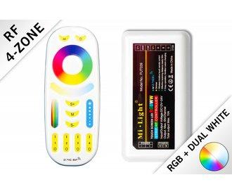 Mi·Light RGBWW  / RGBCCT RF Controller met Afstandsbediening 4 zones | 12-24 Volt 10A