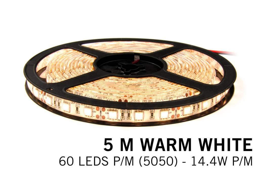 Mi·Light Warm Wit Losse Led Strip | 5m 60 Leds pm Type 5050 12V 14,4W pm IP65