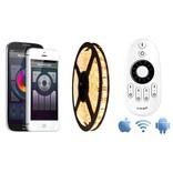 Mi·Light Warm Wit starterset met afstandsbediening & wifi-box | 5m 60 Leds pm Type 5050 12V 14,4W pm IP65