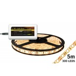 Mi·Light Warm Wit Led Strip uitbreidingsset met controller en adapter | 60 Leds pm Type 5050 12V 14,4W pm IP65