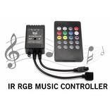 RGB IR Controller op Muziektempo met Afstandsbediening | 12-24 Volt 3x2 Ampère