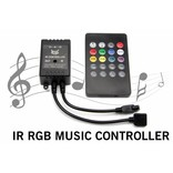 RGB Muziek LED strip Controller Met Music Beat Microfoon