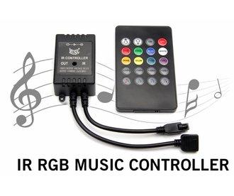 RGB LED strip Muziek Controller met IR remote