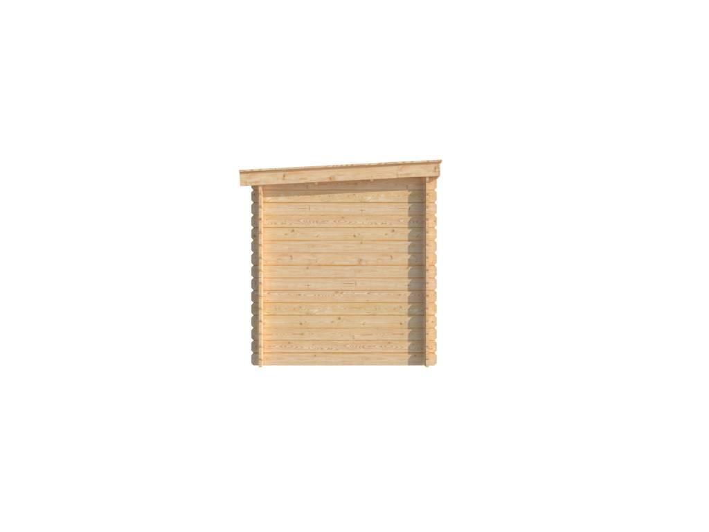 DWF Blokhut met overkapping lessenaar dak 200 x 200 + 200cm
