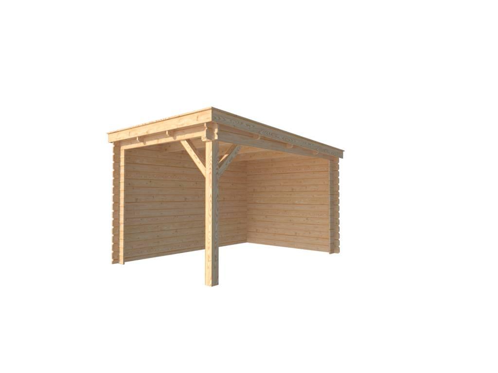 DWF Houten overkapping lessenaars dak 250 x 350cm