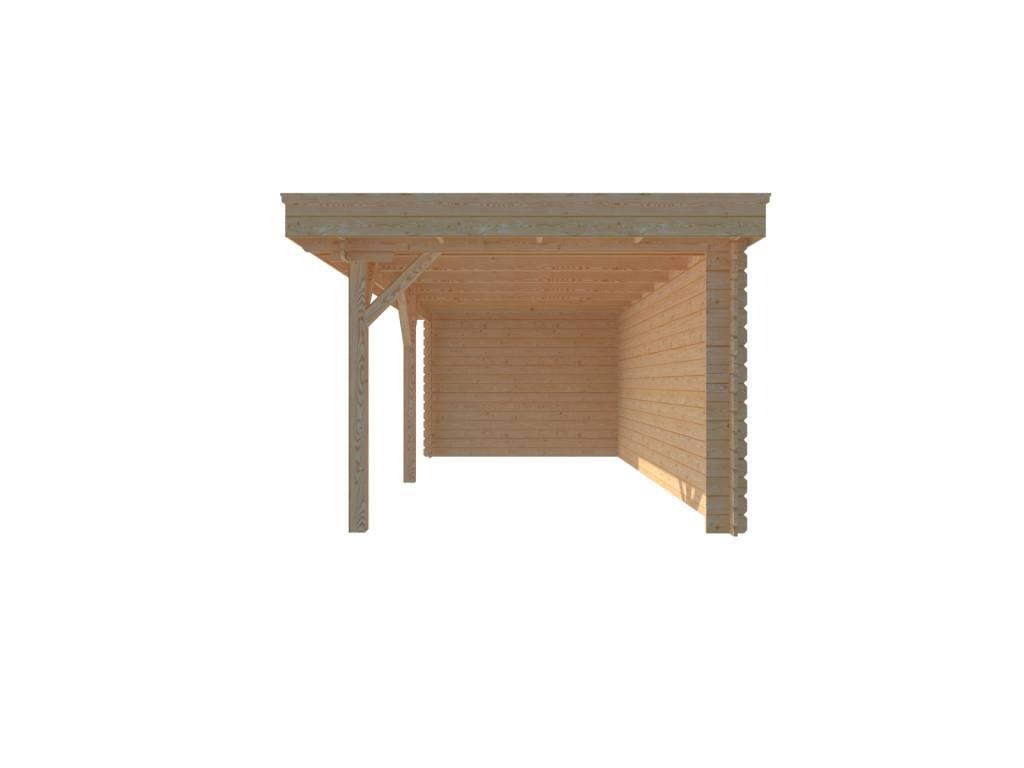 DWF Houten overkapping plat dak 550 x 300cm
