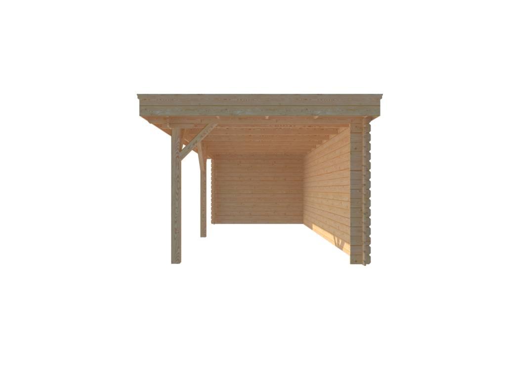 DWF Houten overkapping plat dak 600 x 300cm