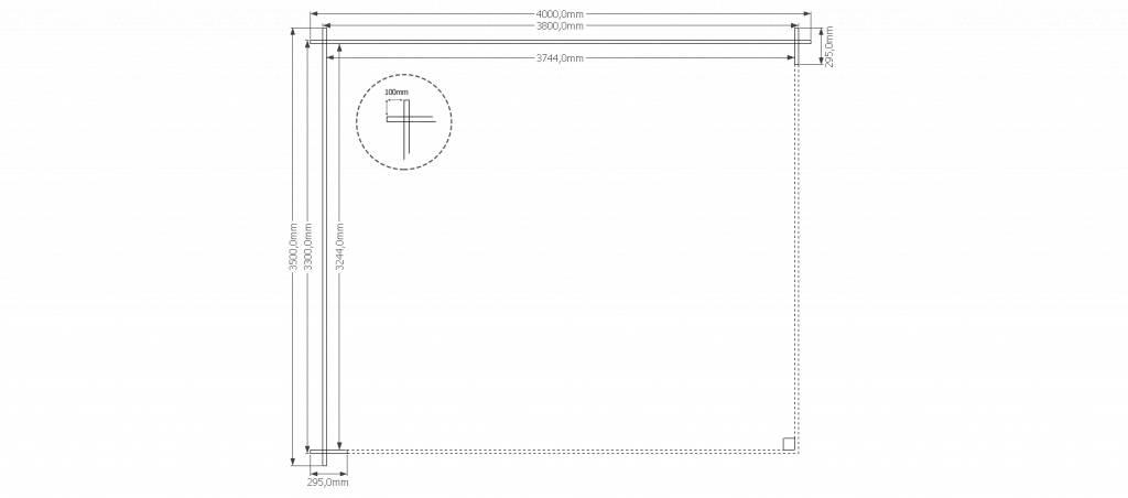 DWF Houten overkapping zadeldak 400 x 350cm