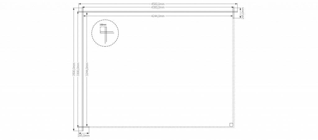 DWF Houten overkapping zadeldak 450 x 350cm