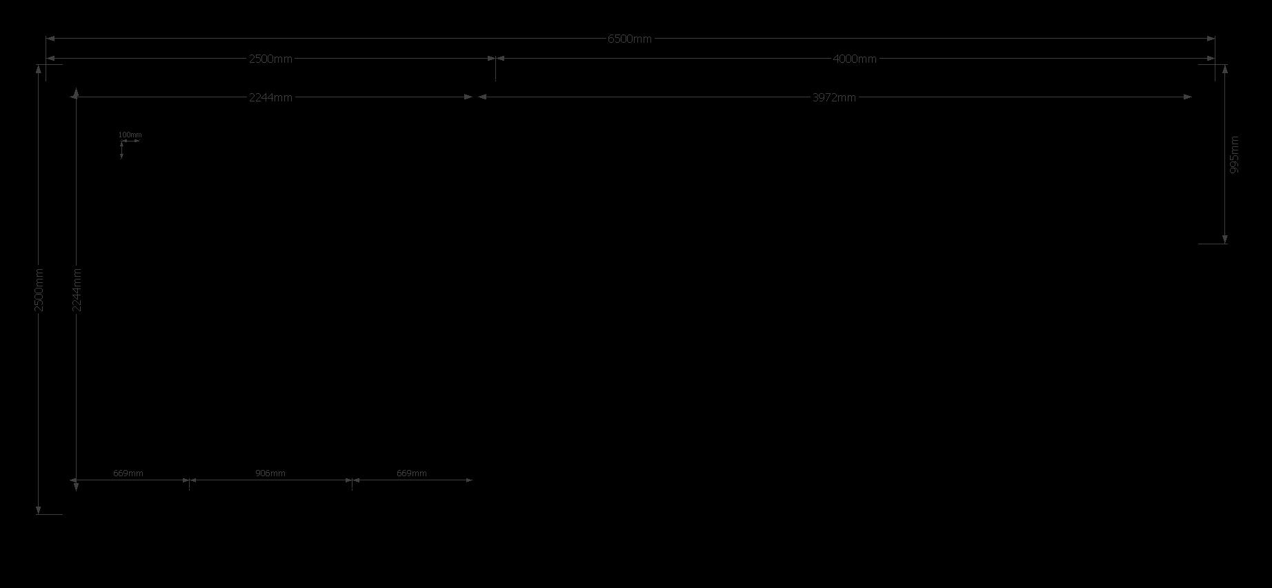 DWF Blokhut met overkapping Kapschuur dak 250 x 250 + 400cm