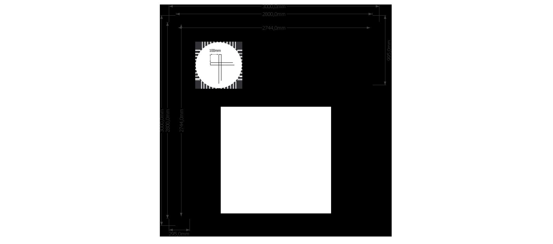 DWF Houten overkapping plat dak 300 x 300cm