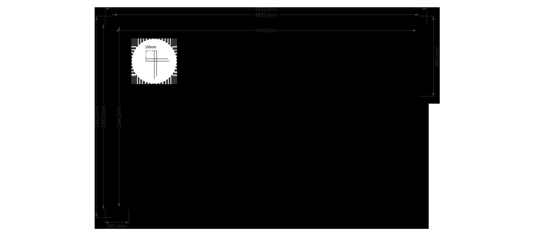 DWF Houten overkapping plat dak 400 x 250cm