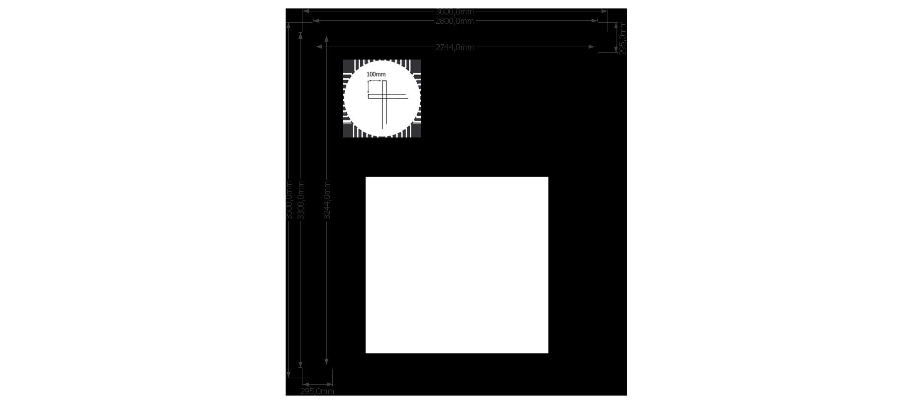 DWF Houten overkapping zadeldak 300 x 350cm