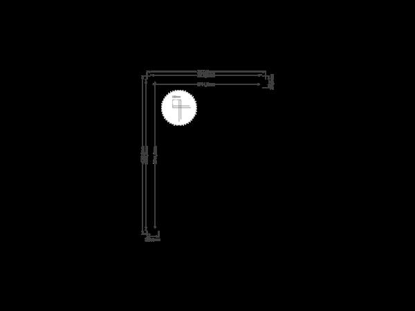DWF Houten overkapping zadeldak 300 x 400cm