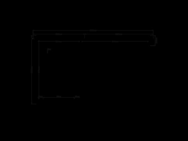 DWF Blokhut met overkapping zadeldak 150 x 200 + 200cm