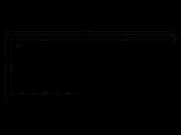 DWF Blokhut met overkapping zadeldak 300 x 250 + 350cm