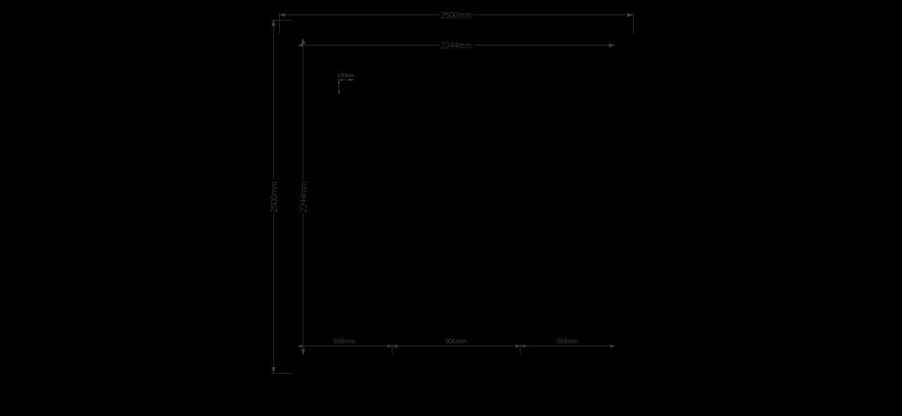 DWF Blokhut plat dak 250 x 250cm