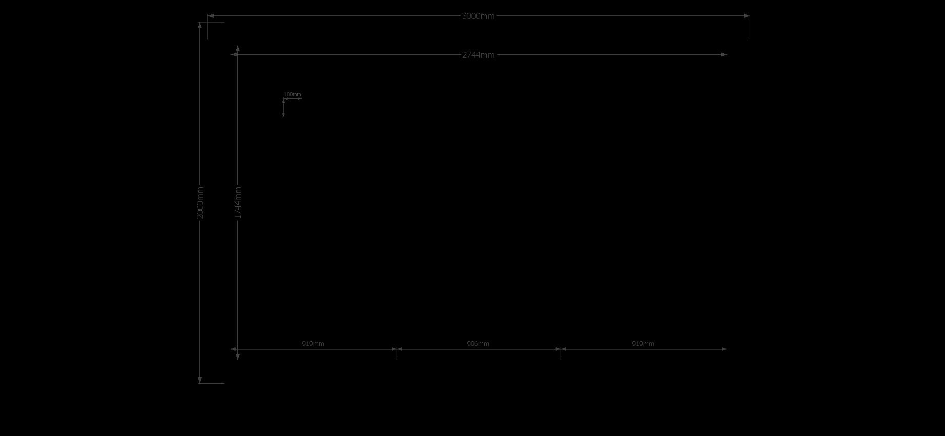 DWF Blokhut zadeldak 300 x 200cm