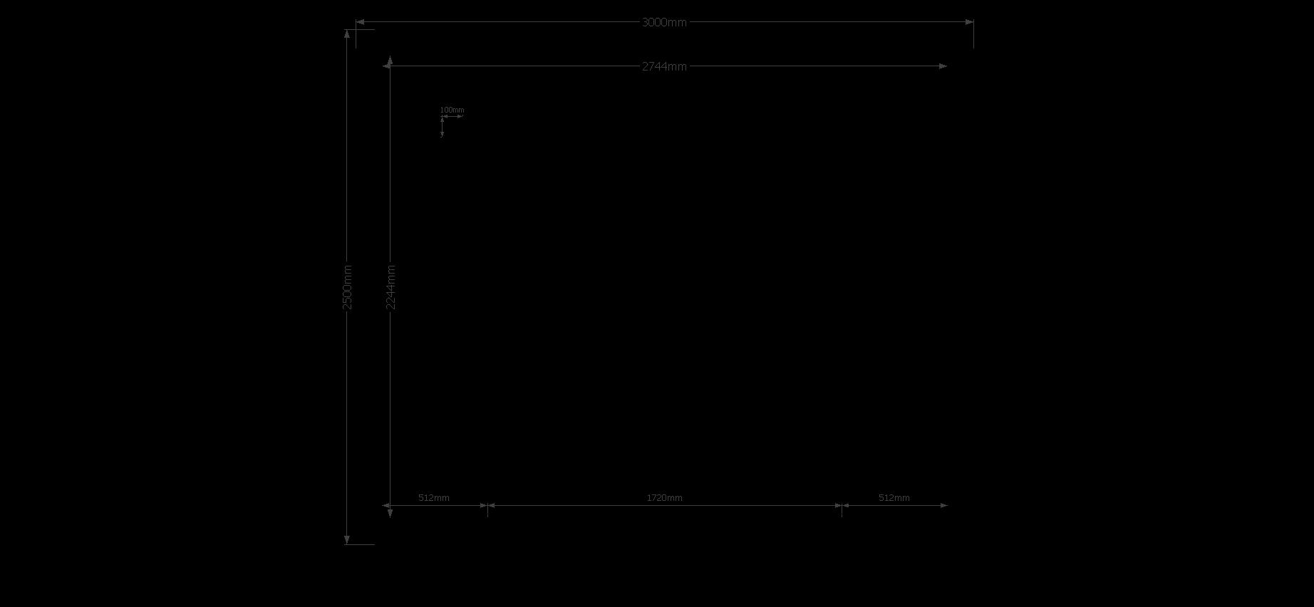 DWF Blokhut kapschuur 300 x 250cm