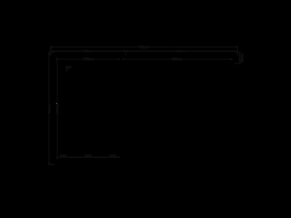 DWF Blokhut met overkapping lessenaar dak 200 x 300 + 300cm
