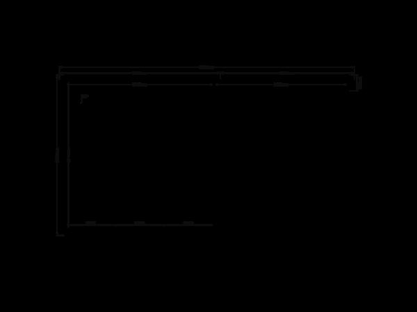 DWF Blokhut met overkapping plat dak 300 x 300 + 250cm