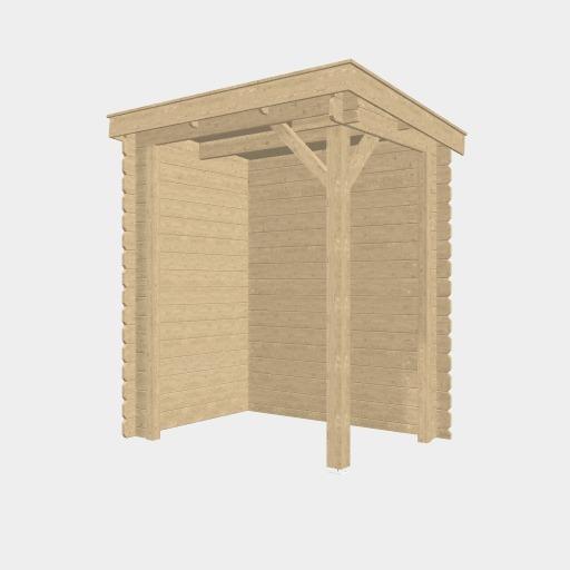 [Customized] Houten overkapping lessenaars dak 150 x 150cm
