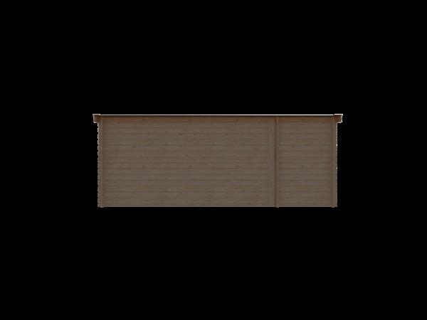 DWF Blokhut met overkapping lessenaar dak 150 x 200 + 400cm