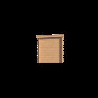 DWF Blokhut met overkapping lessenaar dak 200 x 200 + 250cm