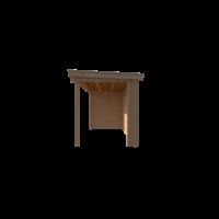 DWF Blokhut met overkapping lessenaar dak 200 x 200 + 400cm
