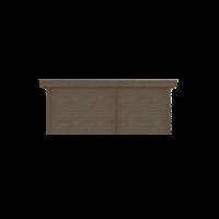 DWF Blokhut met overkapping plat dak 250 x 200 + 300cm