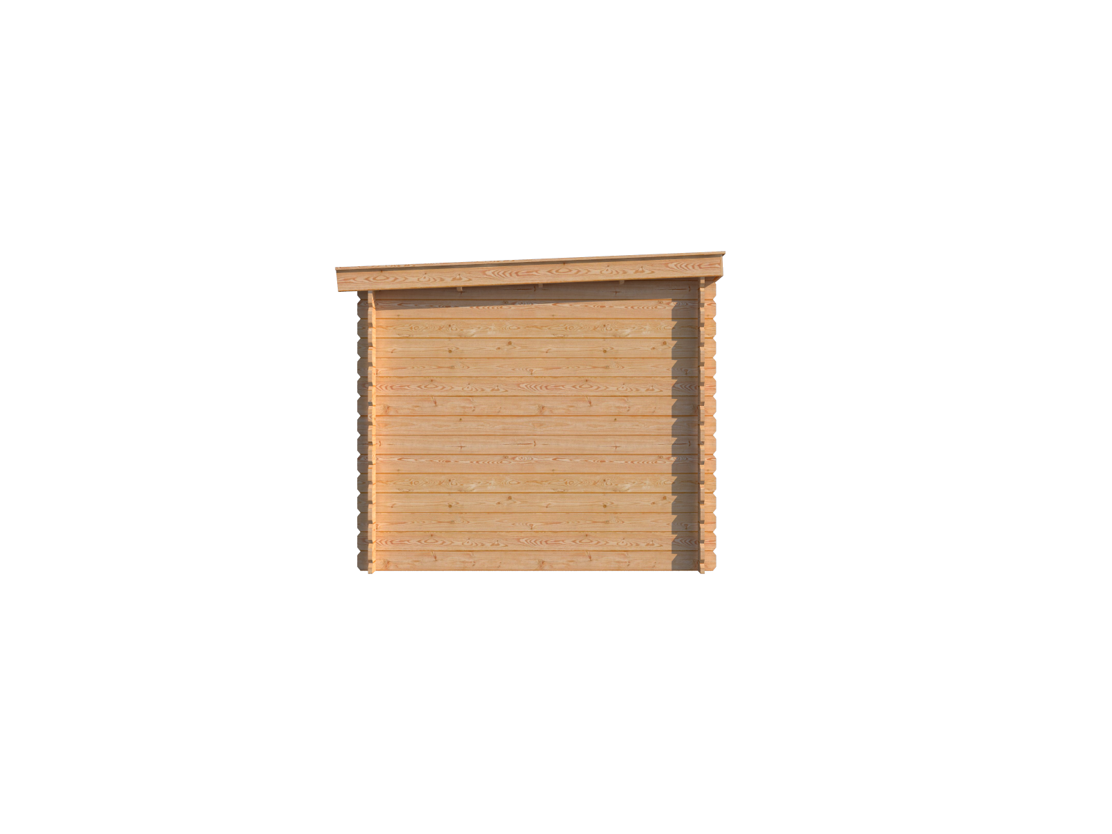 DWF Blokhut met overkapping lessenaar dak 200 x 250 + 300cm