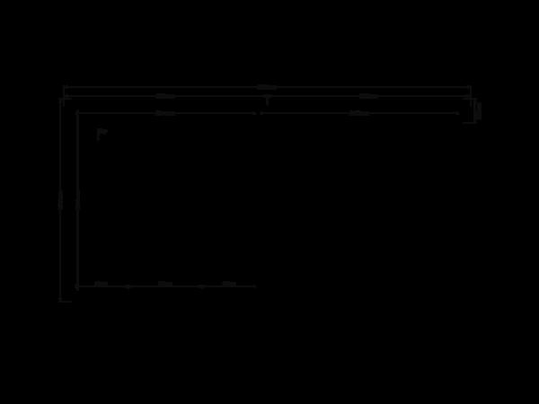 DWF Blokhut met overkapping plat dak 400 x 200 + 300cm
