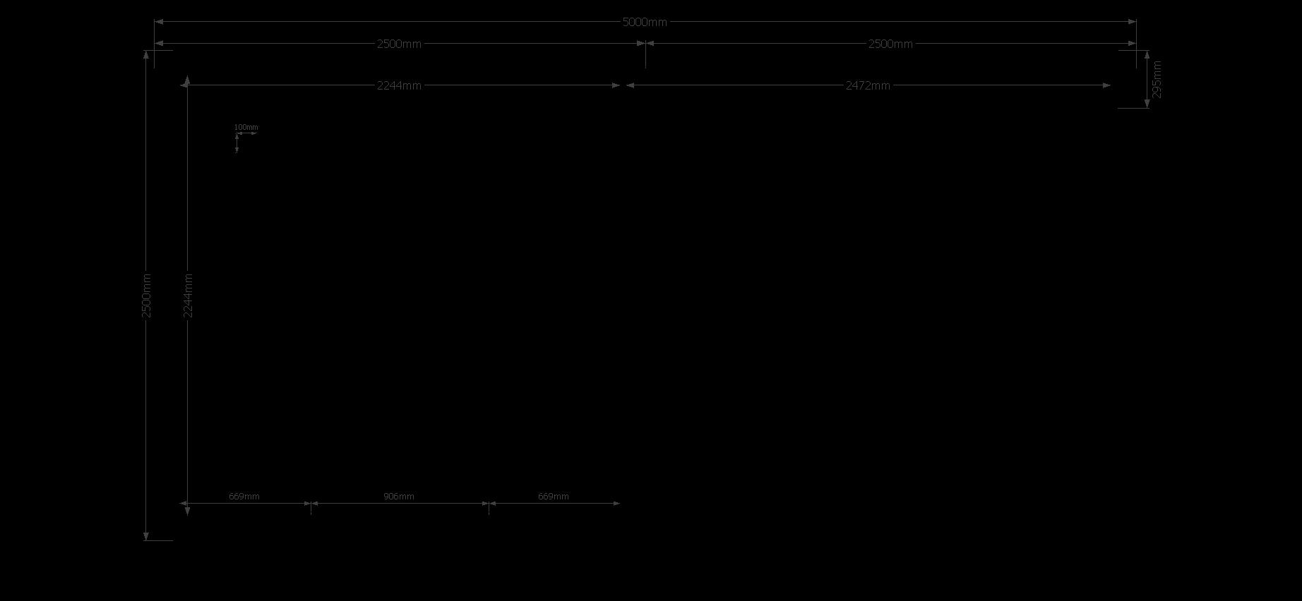 DWF Blokhut met overkapping plat dak 400 x 200 + 400cm